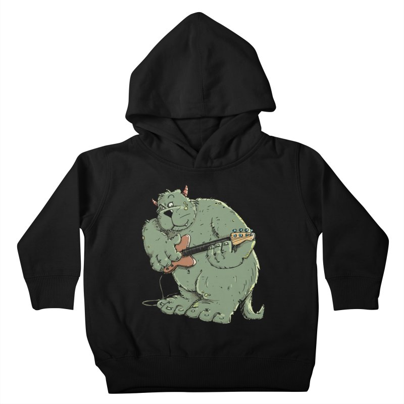 The Bassist is a real Monster Kids Toddler Pullover Hoody by Illustrated Madness