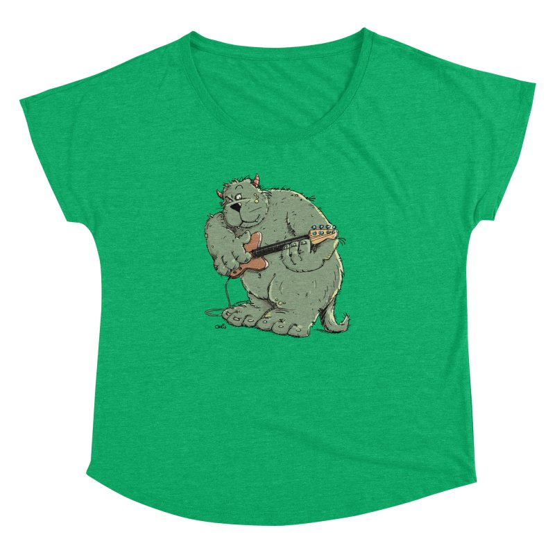 The Bassist is a real Monster Women's Dolman Scoop Neck by Illustrated Madness