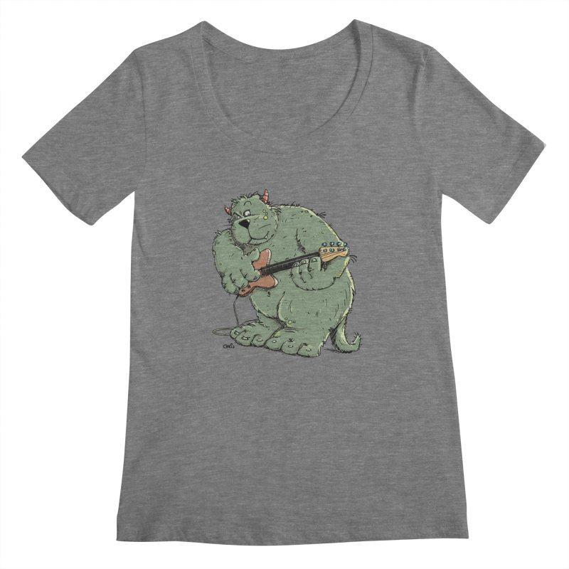 The Bassist is a real Monster Women's Scoopneck by Illustrated Madness