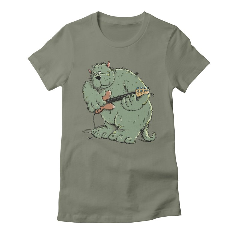 The Bassist is a real Monster Women's Fitted T-Shirt by Illustrated Madness