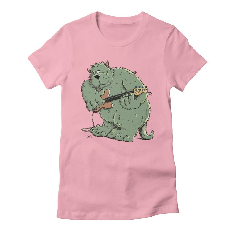 The Bassist is a real Monster Women's T-Shirt by Illustrated Madness
