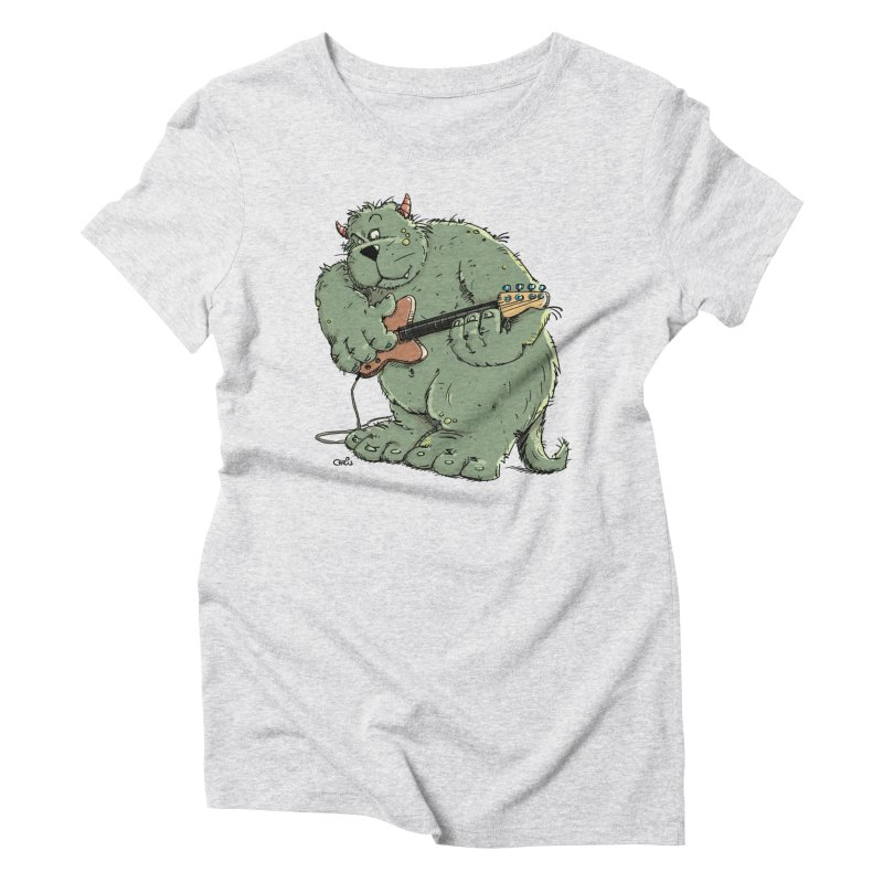 The Bassist is a real Monster Women's Triblend T-Shirt by Illustrated Madness