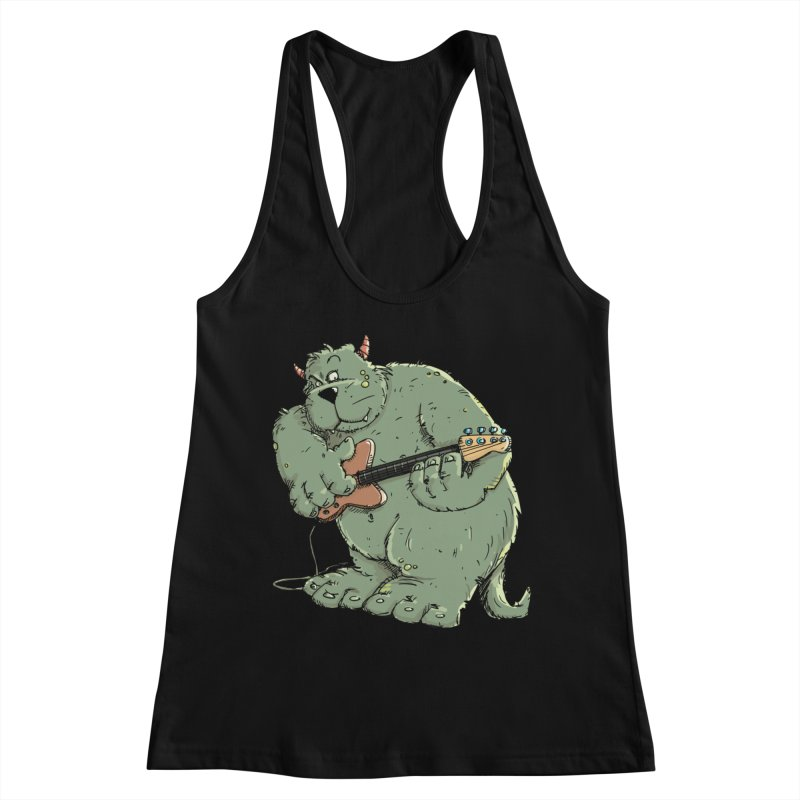 The Bassist is a real Monster Women's Tank by Illustrated Madness