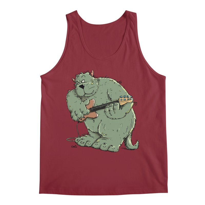 The Bassist is a real Monster Men's Tank by Illustrated Madness