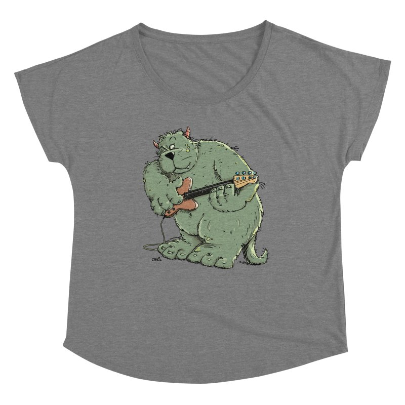 The Bassist is a real Monster Women's Scoop Neck by Illustrated Madness