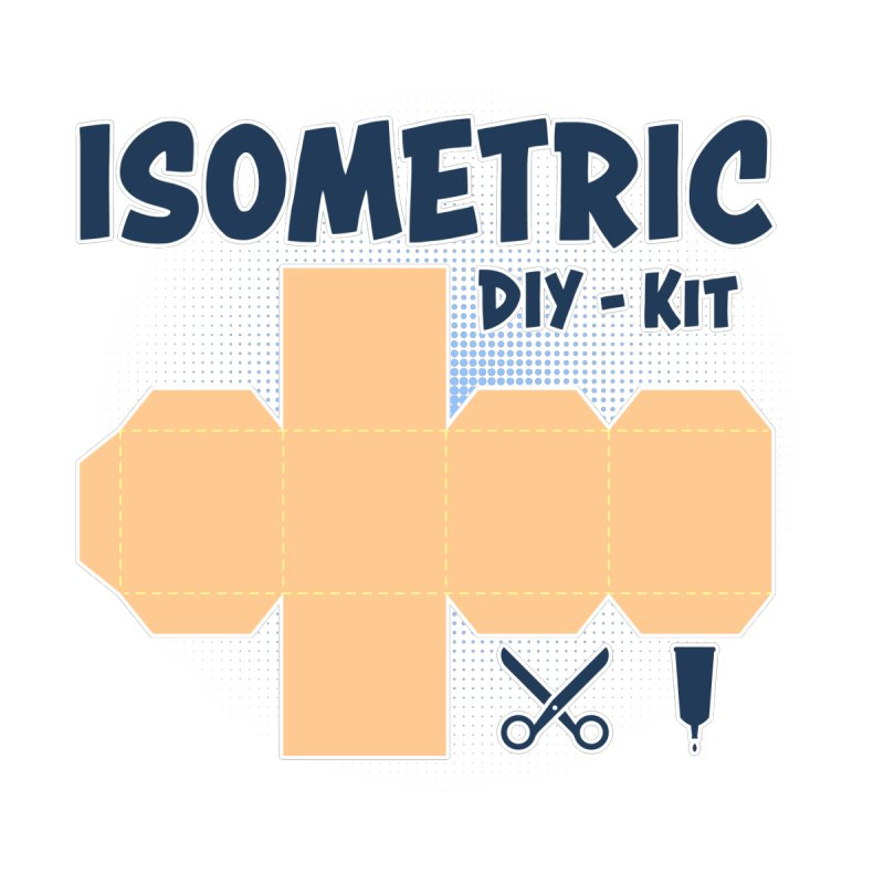 Isometric DIY Kit - Create Your own Dimension Home Shower Curtain by Illustrated Madness