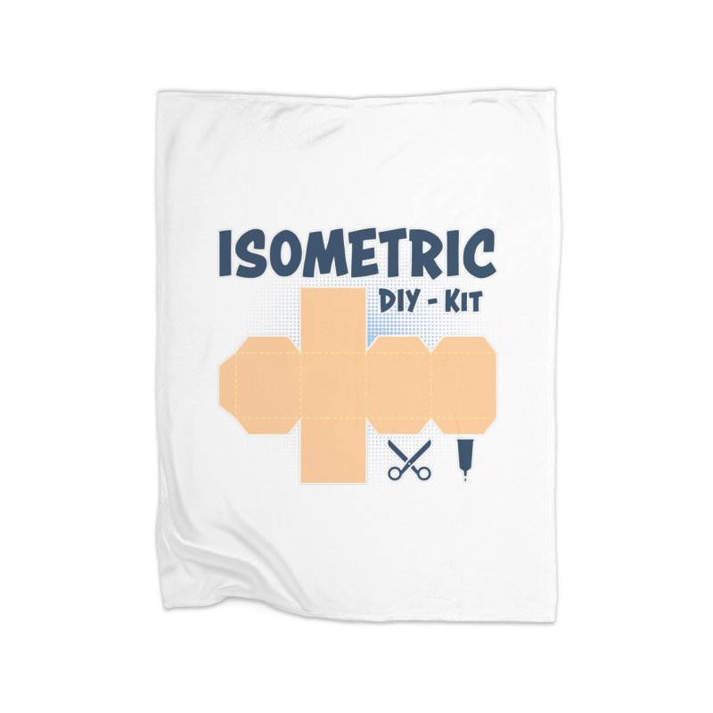 Isometric DIY Kit - Create Your own Dimension Home Fleece Blanket Blanket by Illustrated Madness