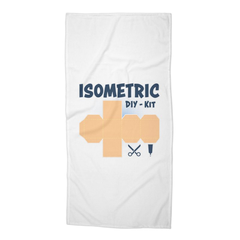 Isometric DIY Kit - Create Your own Dimension Accessories Beach Towel by Illustrated Madness