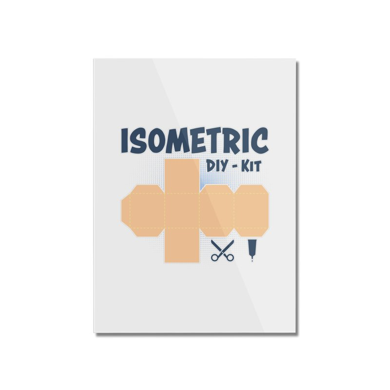 Isometric DIY Kit - Create Your own Dimension Home Mounted Acrylic Print by Illustrated Madness