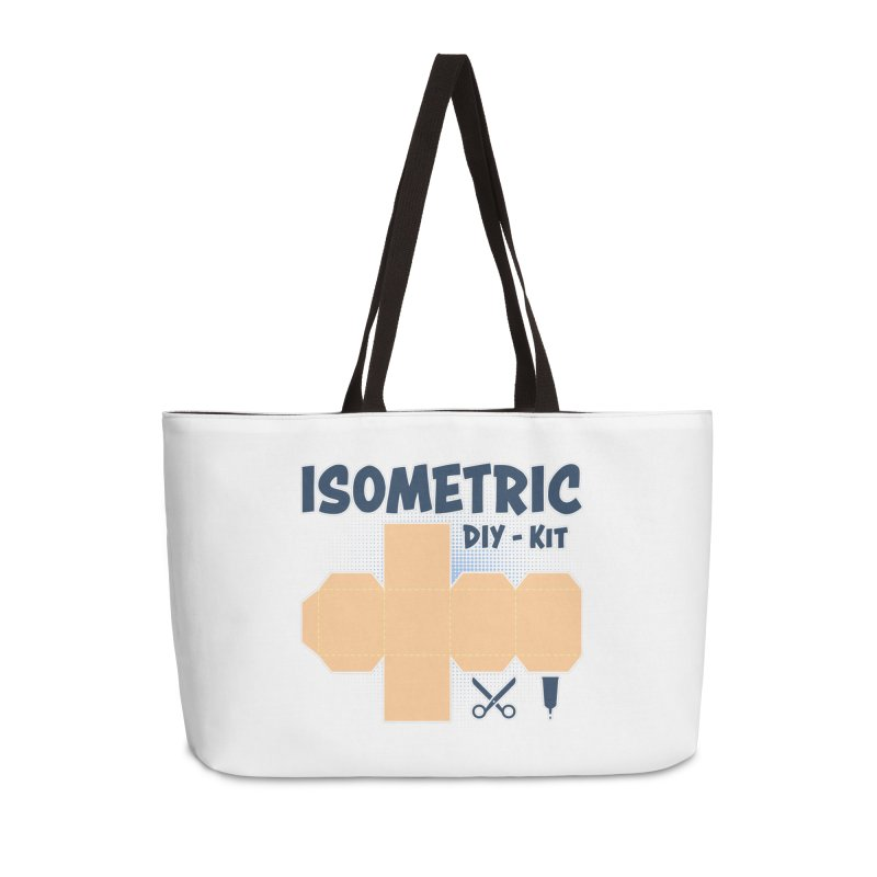 Isometric DIY Kit - Create Your own Dimension Accessories Weekender Bag Bag by Illustrated Madness