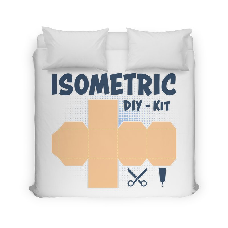 Isometric DIY Kit - Create Your own Dimension Home Duvet by Illustrated Madness