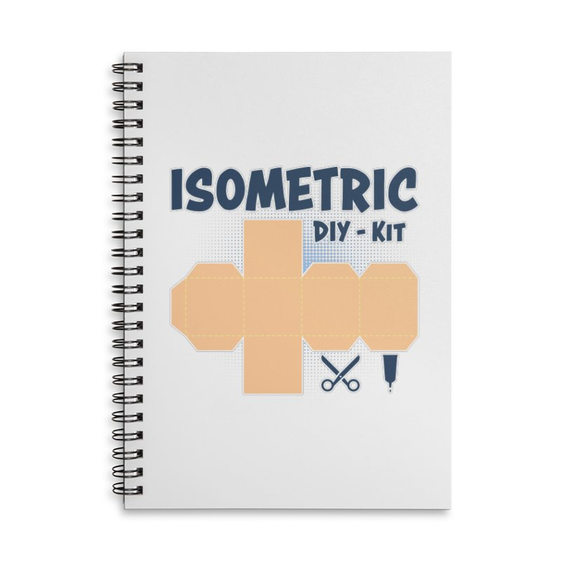Isometric DIY Kit - Create Your own Dimension Accessories Lined Spiral Notebook by Illustrated Madness