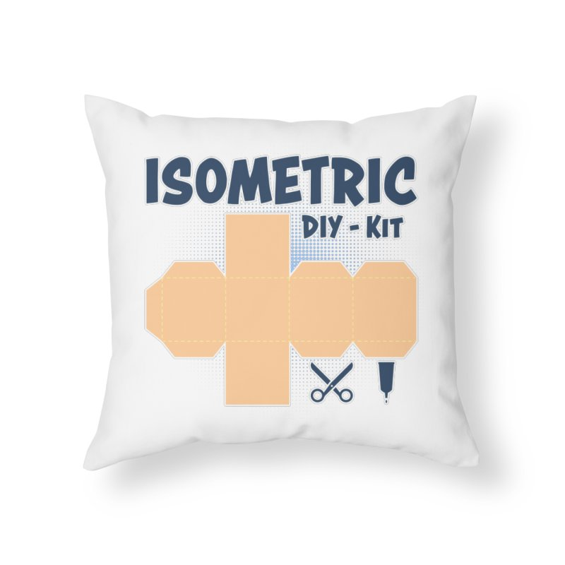 Isometric DIY Kit - Create Your own Dimension Home Throw Pillow by Illustrated Madness