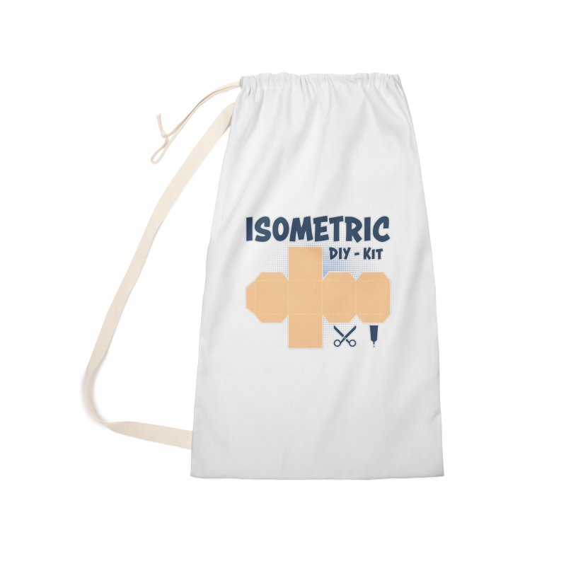 Isometric DIY Kit - Create Your own Dimension Accessories Laundry Bag Bag by Illustrated Madness