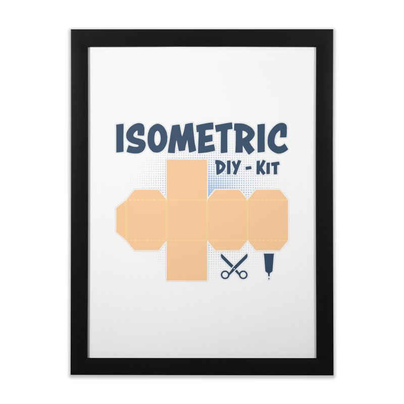 Isometric DIY Kit - Create Your own Dimension Home Framed Fine Art Print by Illustrated Madness