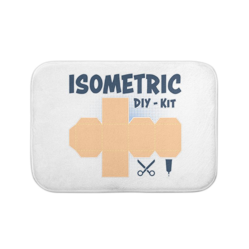 Isometric DIY Kit - Create Your own Dimension Home Bath Mat by Illustrated Madness