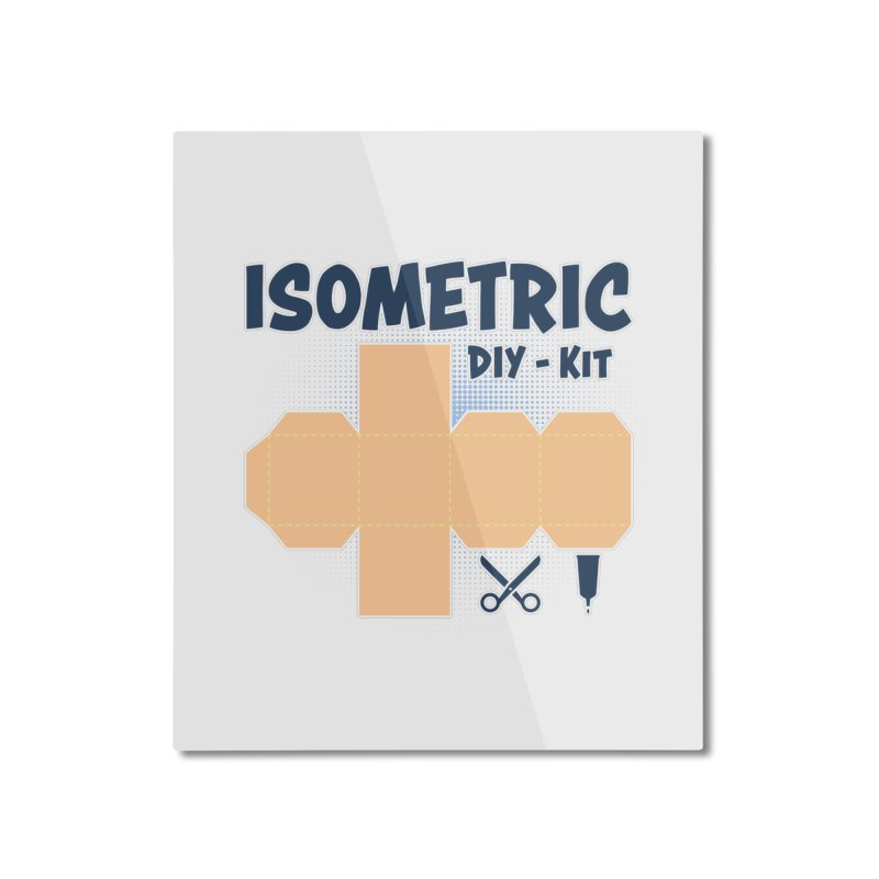 Isometric DIY Kit - Create Your own Dimension Home Mounted Aluminum Print by Illustrated Madness