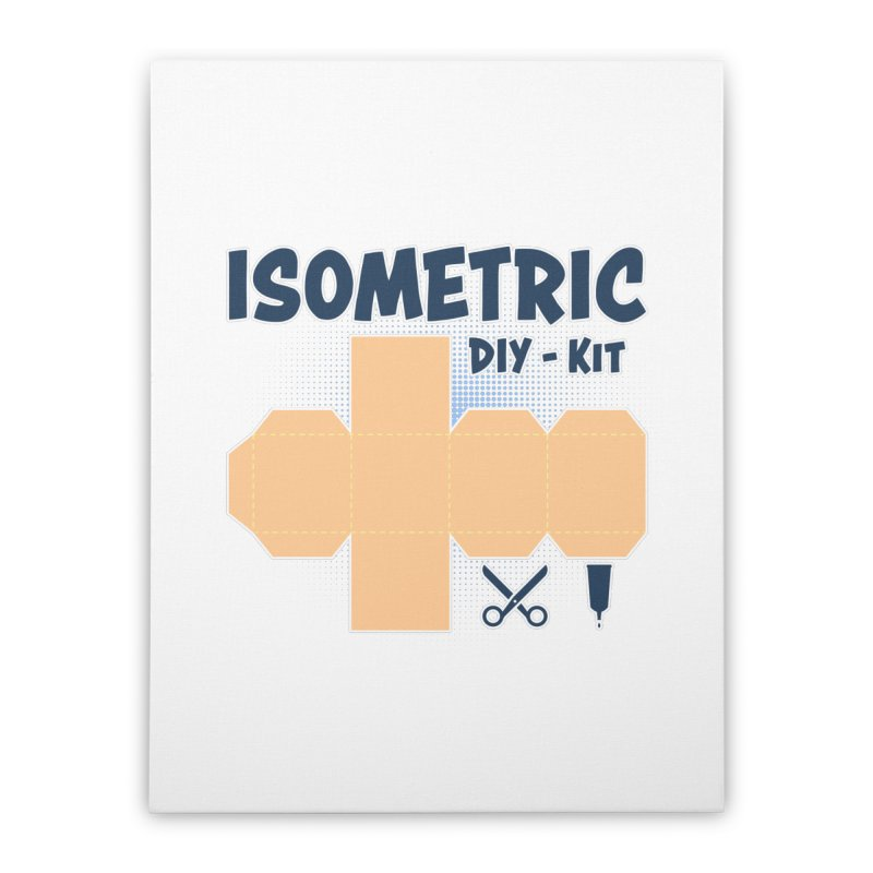 Isometric DIY Kit - Create Your own Dimension Home Stretched Canvas by Illustrated Madness