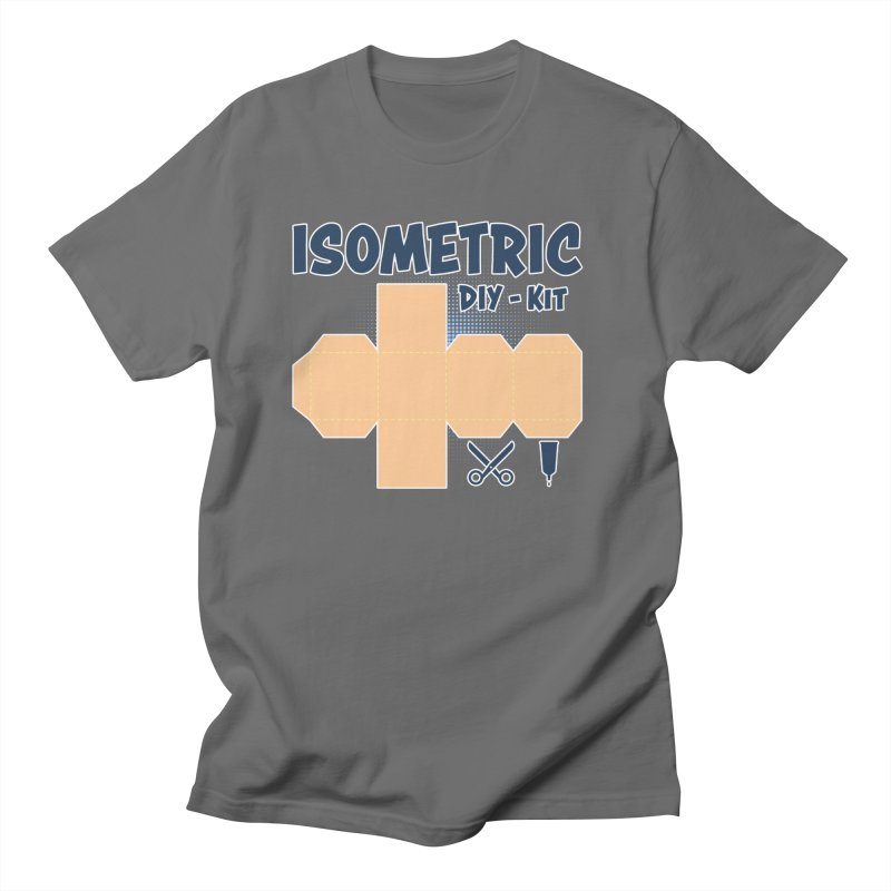 Isometric DIY Kit - Create Your own Dimension Men's T-Shirt by Illustrated Madness