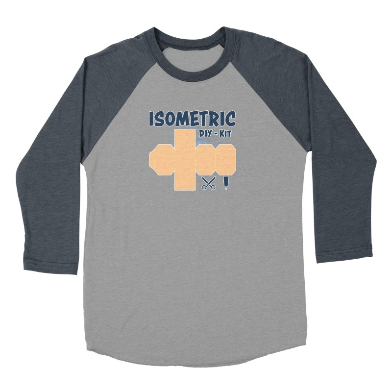 Isometric DIY Kit - Create Your own Dimension Women's Baseball Triblend Longsleeve T-Shirt by Illustrated Madness