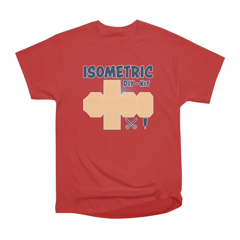 Isometric DIY Kit - Create Your own Dimension Men's Heavyweight T-Shirt by Illustrated Madness