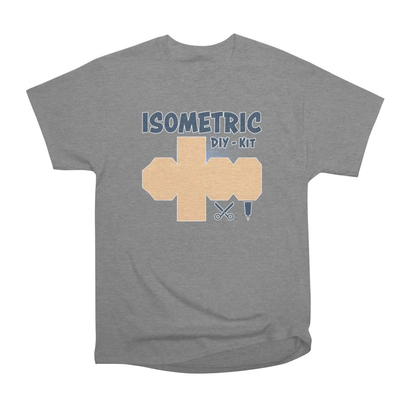 Isometric DIY Kit - Create Your own Dimension Women's Heavyweight Unisex T-Shirt by Illustrated Madness