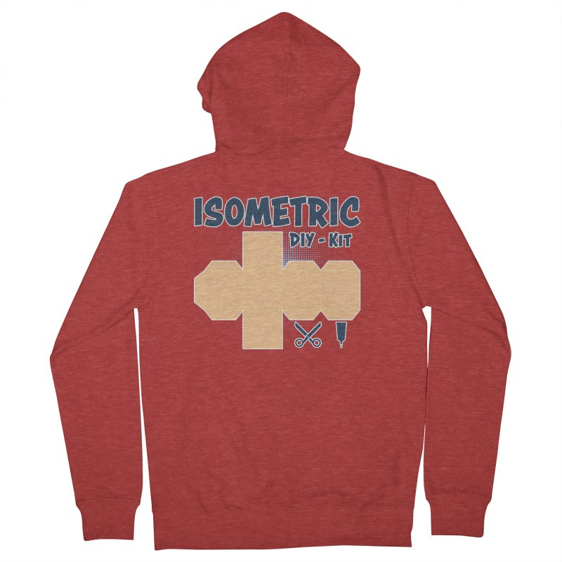 Isometric DIY Kit - Create Your own Dimension Women's French Terry Zip-Up Hoody by Illustrated Madness
