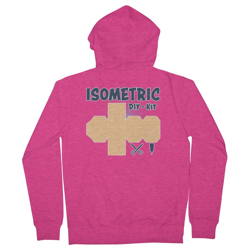 Isometric DIY Kit - Create Your own Dimension Women's Zip-Up Hoody by Illustrated Madness