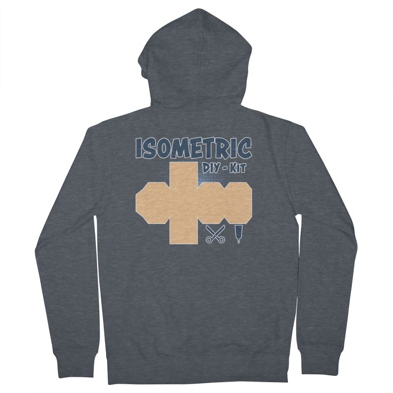 Isometric DIY Kit - Create Your own Dimension Men's French Terry Zip-Up Hoody by Illustrated Madness