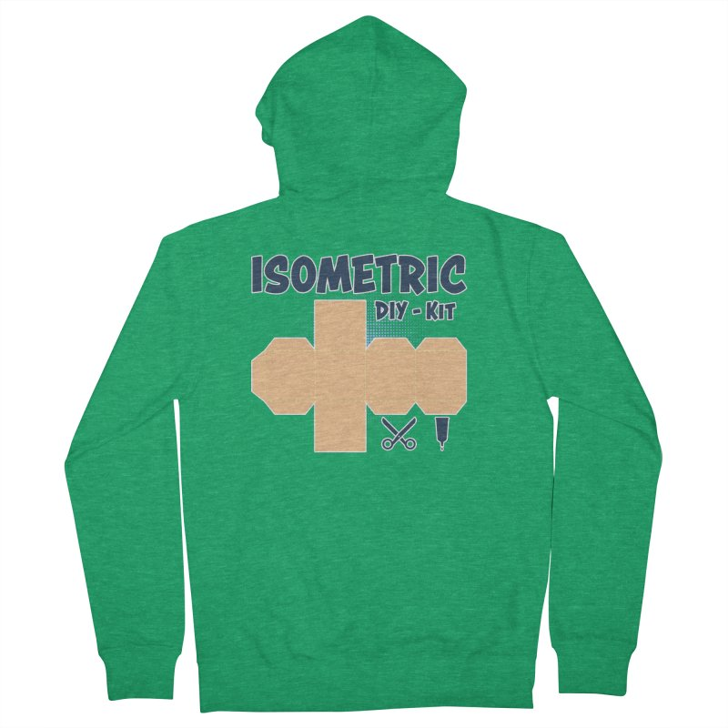 Isometric DIY Kit - Create Your own Dimension Men's Zip-Up Hoody by Illustrated Madness