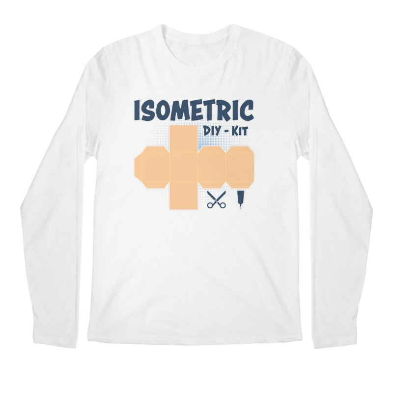 Isometric DIY Kit - Create Your own Dimension Men's Regular Longsleeve T-Shirt by Illustrated Madness