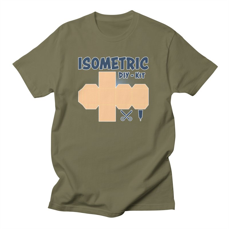 Isometric DIY Kit - Create Your own Dimension Men's Regular T-Shirt by Illustrated Madness