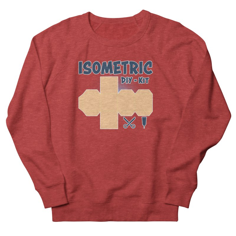 Isometric DIY Kit - Create Your own Dimension Women's French Terry Sweatshirt by Illustrated Madness