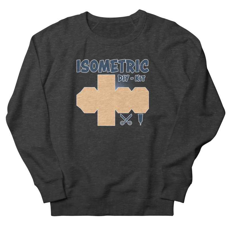 Isometric DIY Kit - Create Your own Dimension Men's French Terry Sweatshirt by Illustrated Madness