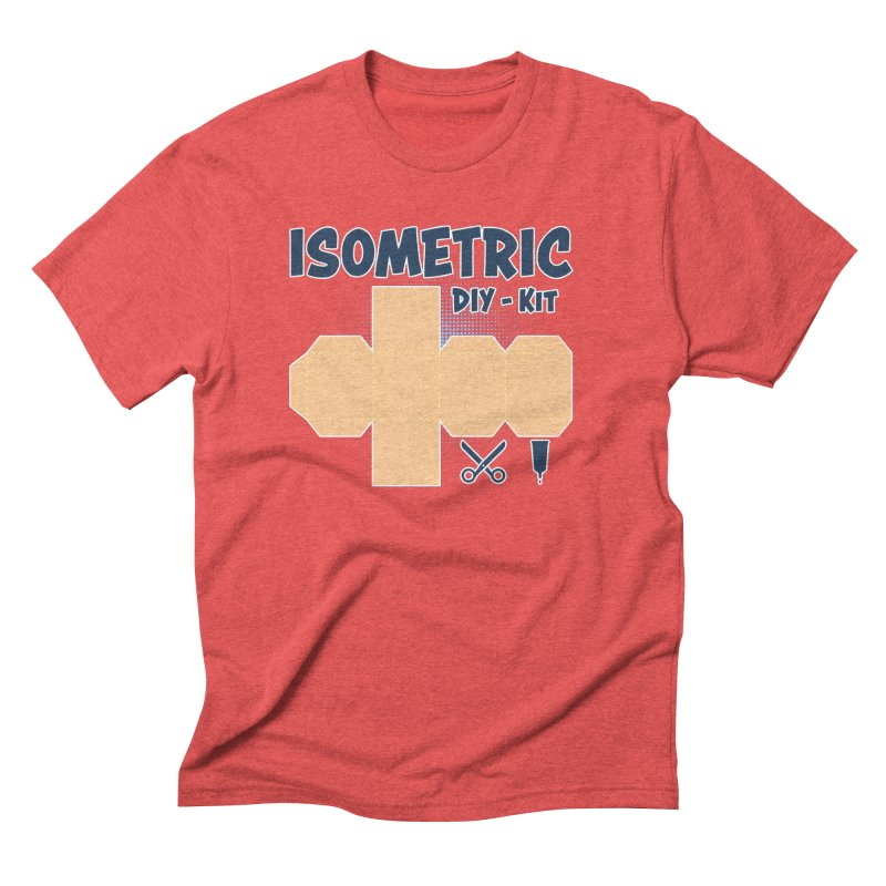 Isometric DIY Kit - Create Your own Dimension Men's Triblend T-Shirt by Illustrated Madness