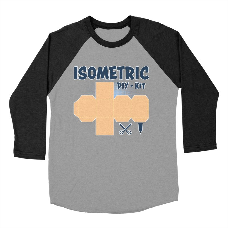 Isometric DIY Kit - Create Your own Dimension Women's Baseball Triblend T-Shirt by Illustrated Madness