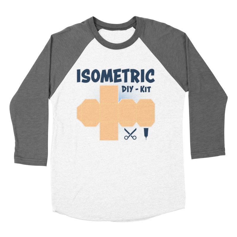Isometric DIY Kit - Create Your own Dimension Men's Baseball Triblend Longsleeve T-Shirt by Illustrated Madness
