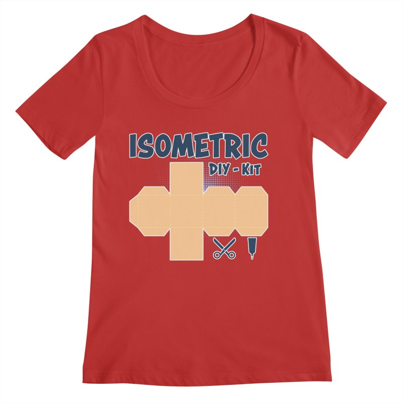Isometric DIY Kit - Create Your own Dimension Women's Regular Scoop Neck by Illustrated Madness
