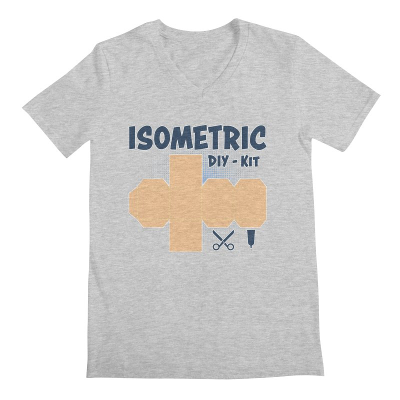 Isometric DIY Kit - Create Your own Dimension Men's Regular V-Neck by Illustrated Madness