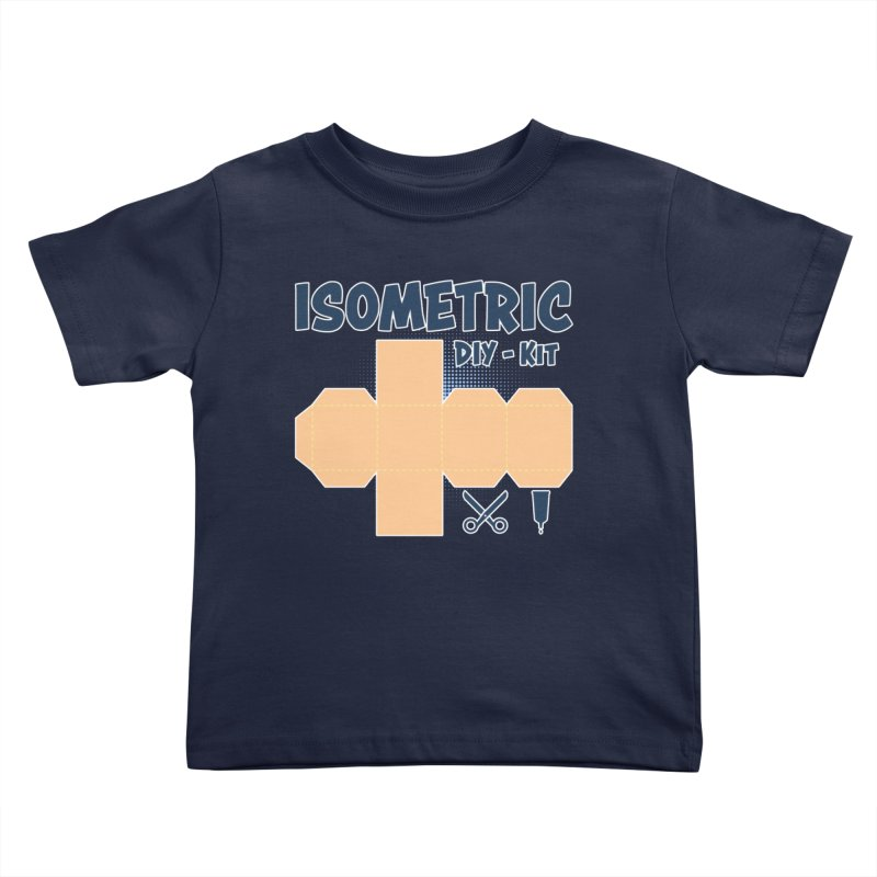 Isometric DIY Kit - Create Your own Dimension Kids Toddler T-Shirt by Illustrated Madness