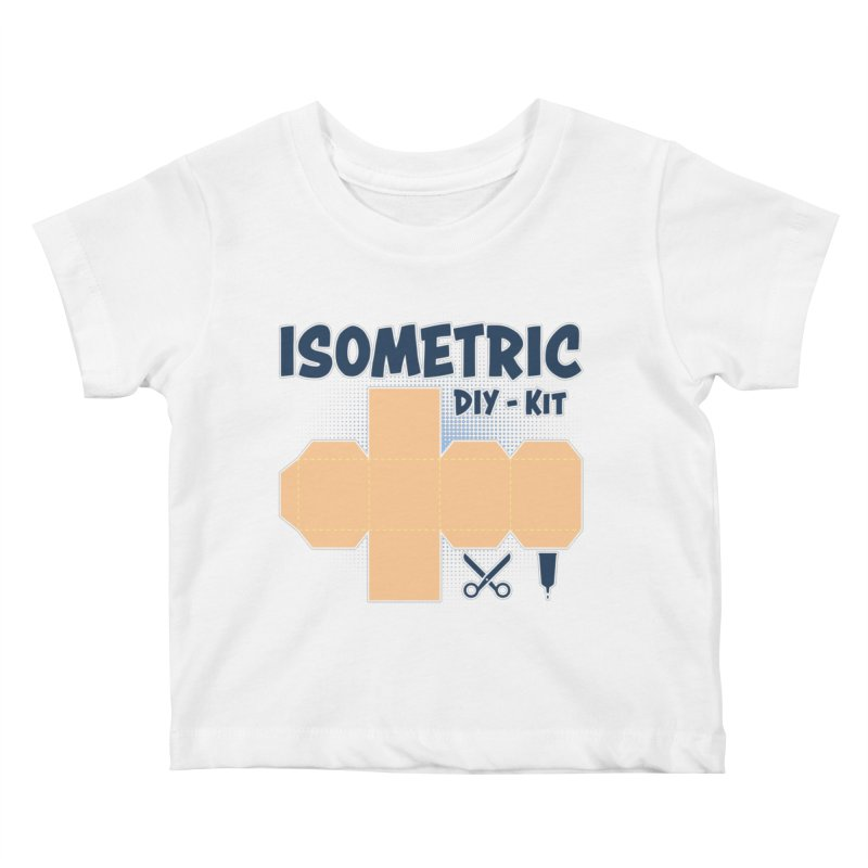 Isometric DIY Kit - Create Your own Dimension Kids Baby T-Shirt by Illustrated Madness
