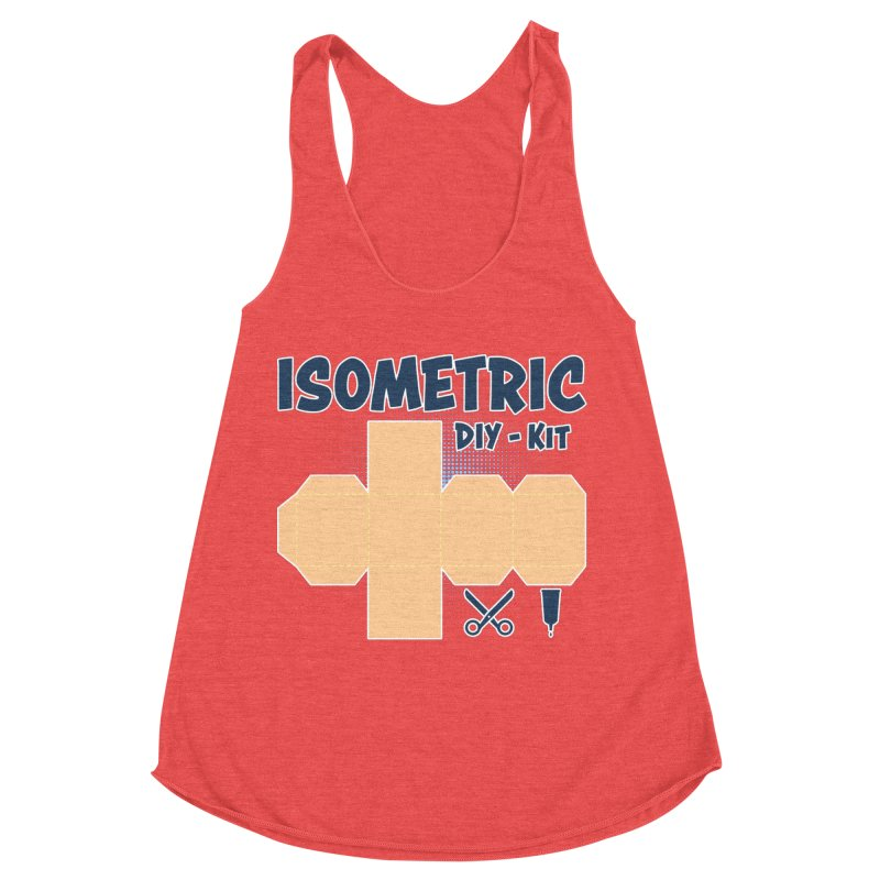 Isometric DIY Kit - Create Your own Dimension Women's Tank by Illustrated Madness