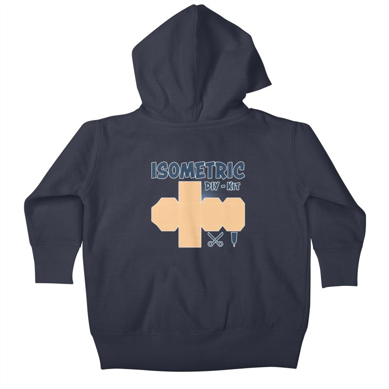 Isometric DIY Kit - Create Your own Dimension Kids Baby Zip-Up Hoody by Illustrated Madness