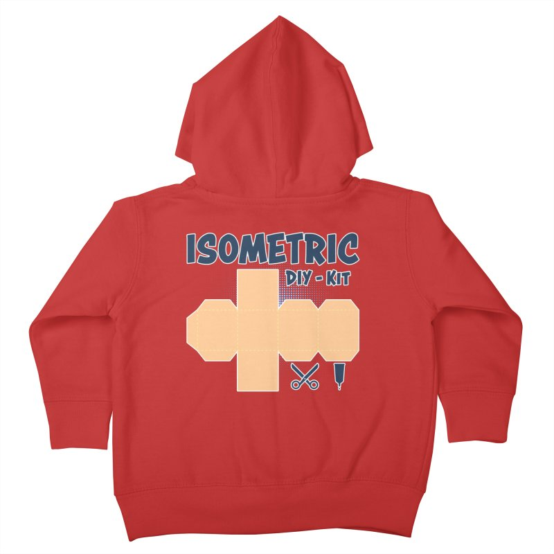 Isometric DIY Kit - Create Your own Dimension Kids Toddler Zip-Up Hoody by Illustrated Madness