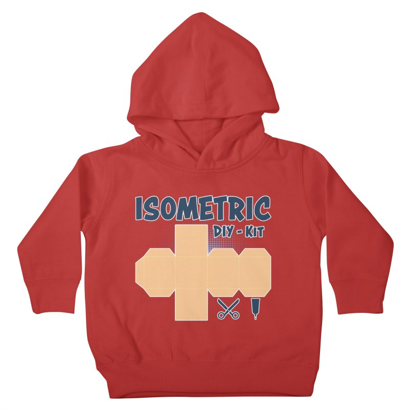 Isometric DIY Kit - Create Your own Dimension Kids Toddler Pullover Hoody by Illustrated Madness