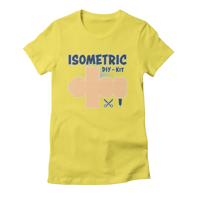 Isometric DIY Kit - Create Your own Dimension Women's T-Shirt by Illustrated Madness