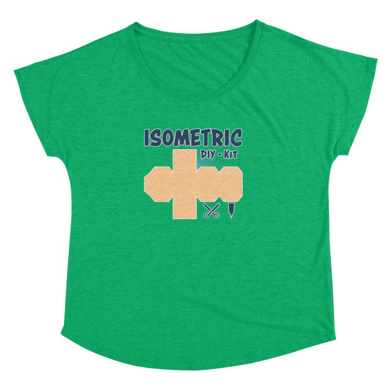 Isometric DIY Kit - Create Your own Dimension Women's Dolman Scoop Neck by Illustrated Madness