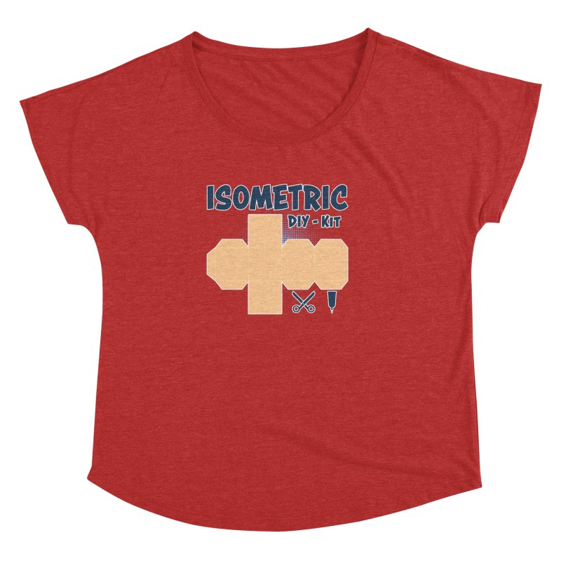 Isometric DIY Kit - Create Your own Dimension Women's Scoop Neck by Illustrated Madness