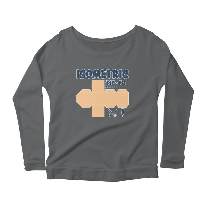 Isometric DIY Kit - Create Your own Dimension Women's Longsleeve Scoopneck  by Illustrated Madness