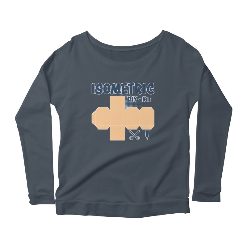 Isometric DIY Kit - Create Your own Dimension Women's Scoop Neck Longsleeve T-Shirt by Illustrated Madness